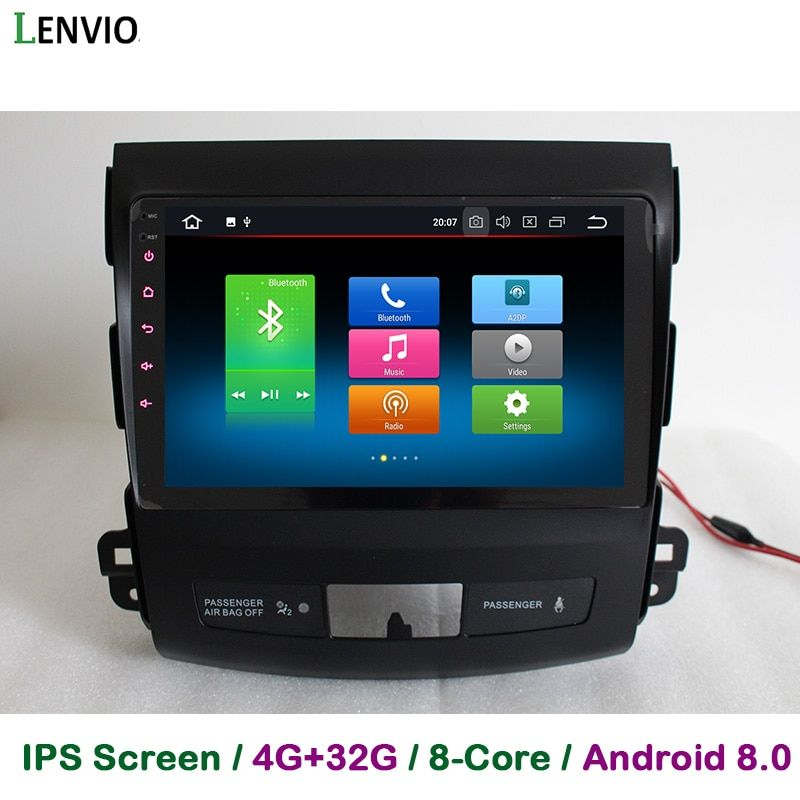 Lenvio IPS 4g RAM 32g ROM Octa Core Android 8.0 Auto DVD GPS Navigation-player Für Mitsubishi Outlander 2006 2007 2008 2009-2012