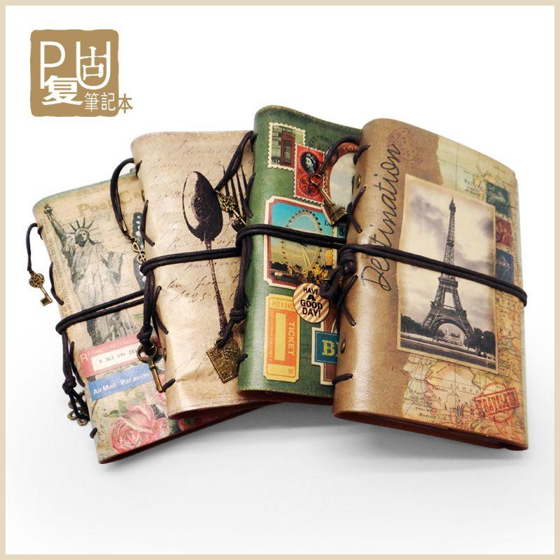 Супер! Старинные блокнот ретро ноутбук дневник ручной работы из кожи ноутбук Ретро ноутбук, ручной кожаная тетрадь