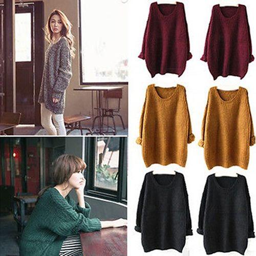 Женская Мода Зима Случайные Свободные Трикотажные Свитера С Длинным Рукавом И Пиджаки Пальто