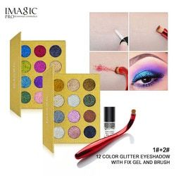 Imagic Glitter Suntikan Ditekan Gemerlap Single Eyeshadow Diamond Make Up Pelangi Kosmetik Eye Shadow Magnet Palet