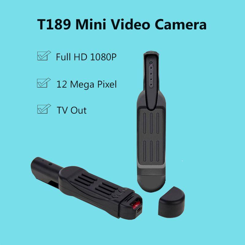 Full HD 1080P Mini Camera T189 Pen Camera Voice Recorder Digital Video Camera Recorder Portable TV Out Mini Camcorder