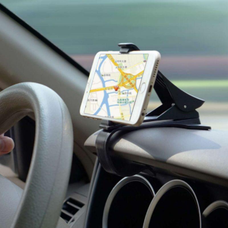 Mrs win Rutschfeste Auto Handyhalter Armaturenbrett Clip Clamp Einstellbar Telefonständer Bracket GPS Für iPhone Samsung Xiaomi Huawei