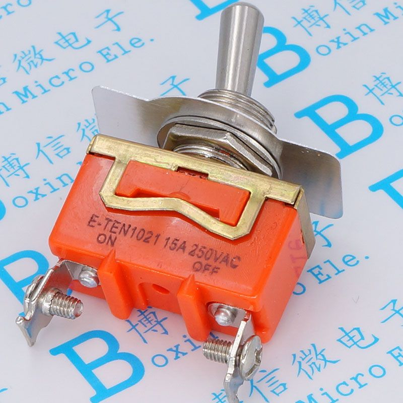 E - TEN1021 toggle switch Shake head rocker switch 2 feet 2 15 a / 250 v