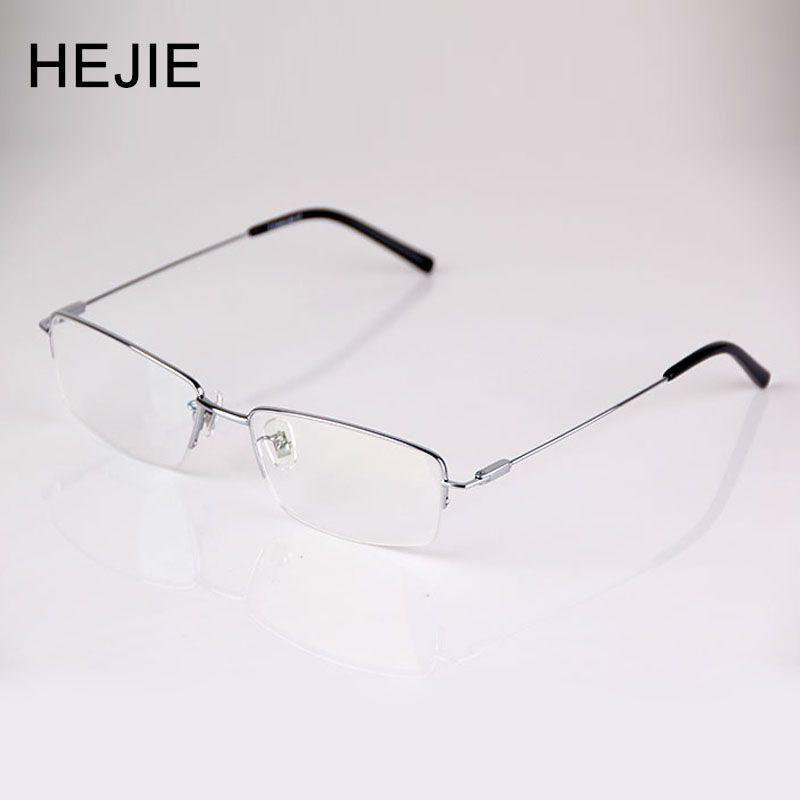 Mode hommes pur titane lunettes de lecture mince revêtement Anti-éblouissement lentille demi jante taille de cadre 54-17-140mm Diopter + 0.5-+ 4.0 9065
