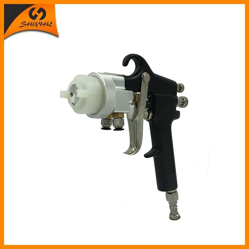 SAT1182 free shipping 95 Chrome Paint Hot On Sales Single Head Dual Nozzle Spray Gun