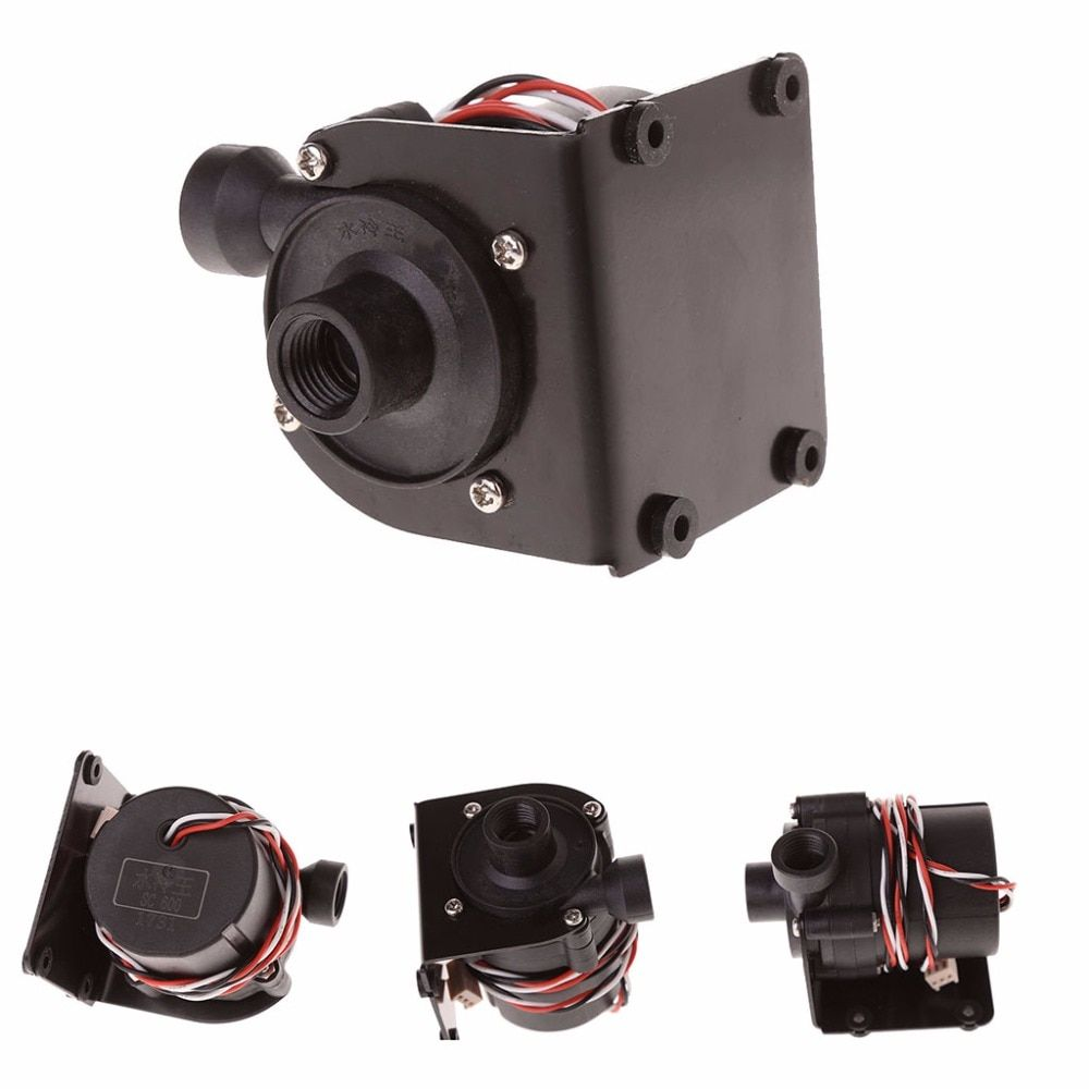 New DC 12V Water Pump 500 L/H G1/4 Input And Output With Iron Bracket 3 Pin #1A50902#