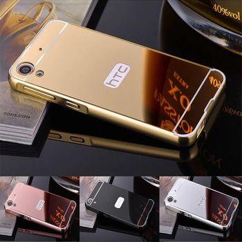 Pour HTC 626 Case Placage En Métal Cadre avec Miroir Dur de Couverture Arrière téléphone Case pour HTC DESIRE 626 626 W 626D 626G 626 S 5.0