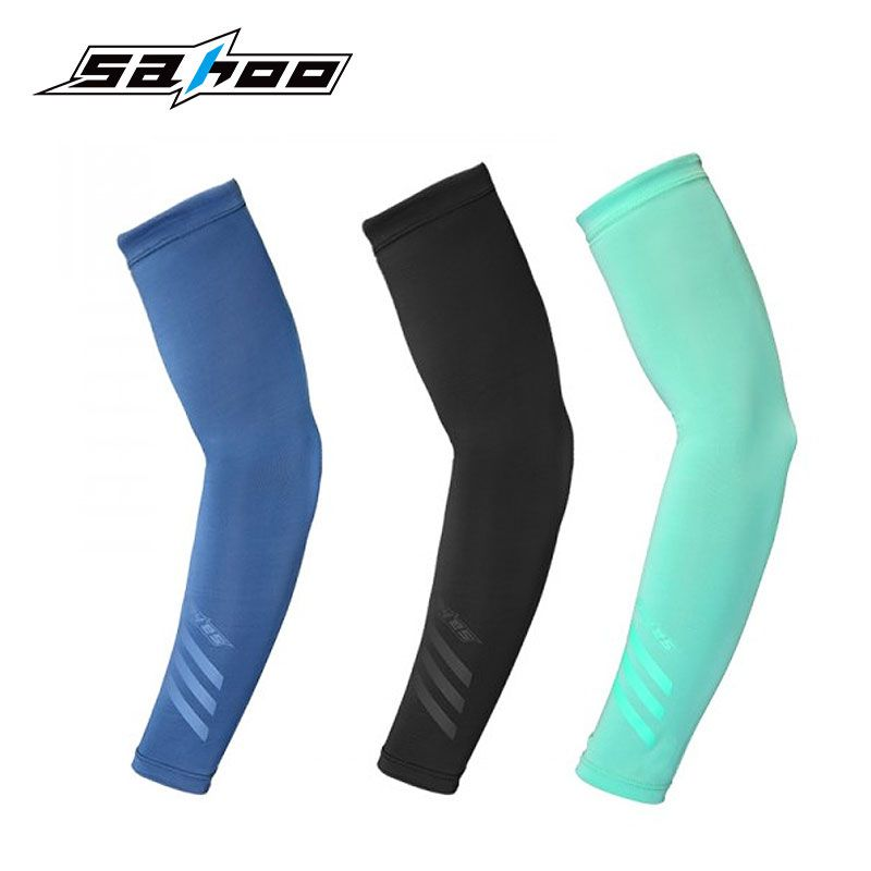 SAHOO #451446 Sun Protection Arm Sleeves UV Resistance Cool Lycra Cover Cycling Sleevelet Unisex Covers Manguito Armwarmer
