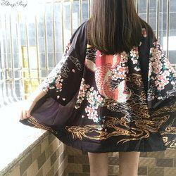 2018 nuevo japonés señora satén kimono yukata vintage etapa rendimiento traje tradicional traje señoras kimono japonés CC261