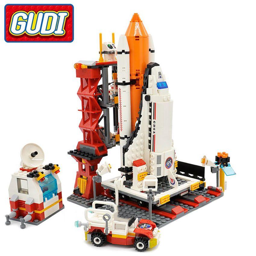 GUDI jouet bloc ville Spaceport navette spatiale Center de lancement bloc de construction 679 pièces classique brique jouets éducatifs pour les enfants