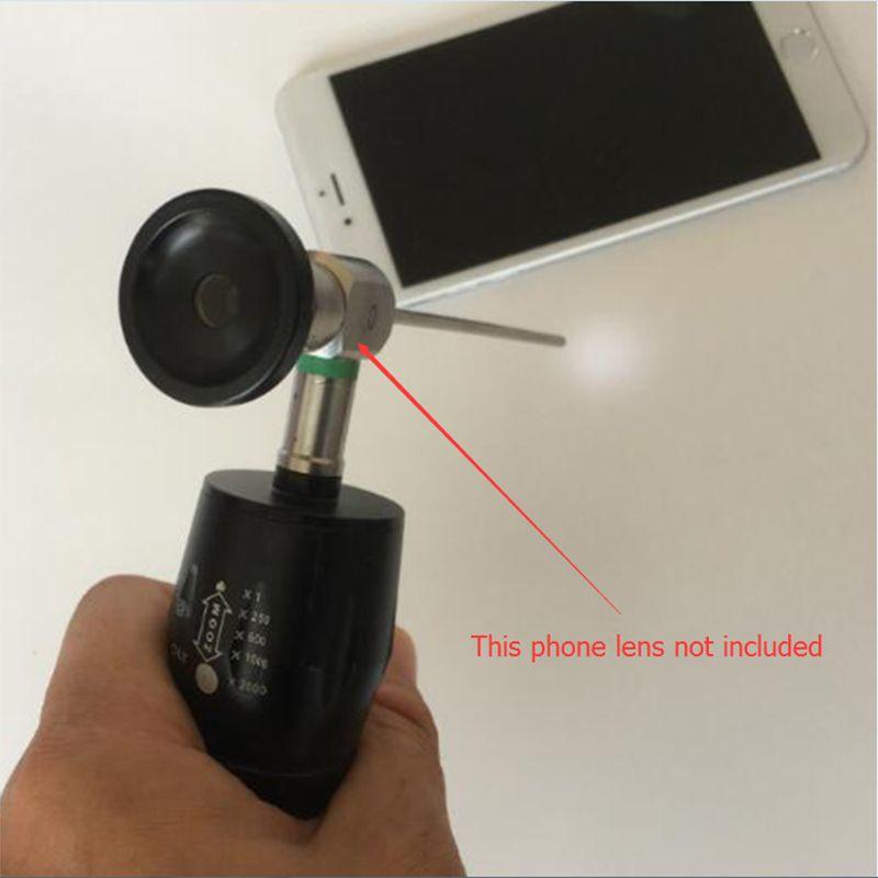 1 pièces HD 5 W 6 lumière LED haute puissance Portable Endoscope médical Source de lumière lentille pour Samsung Galaxy S6 s7 bord poignée Zoom caméra