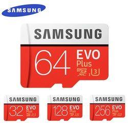 Карта памяти MicroSD SAMSUNG EVO + Micro SD 32 г SDHC 80 МБ/с. Класс Class10 слот для карт памяти C10 UHS-I TF/SD карты модуль памяти Transflash карты памяти SDXC 64 Гб 128 для доста...
