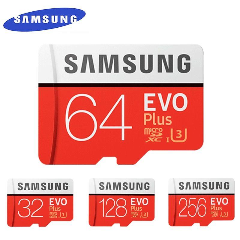 SAMSUNG EVO + Micro SD 32G SDHC 80 mo/s Grade Class10 Carte Mémoire C10 UHS-I TF/SD Cartes trans Flash SDXC 64 GO 128 GO pour l'expédition