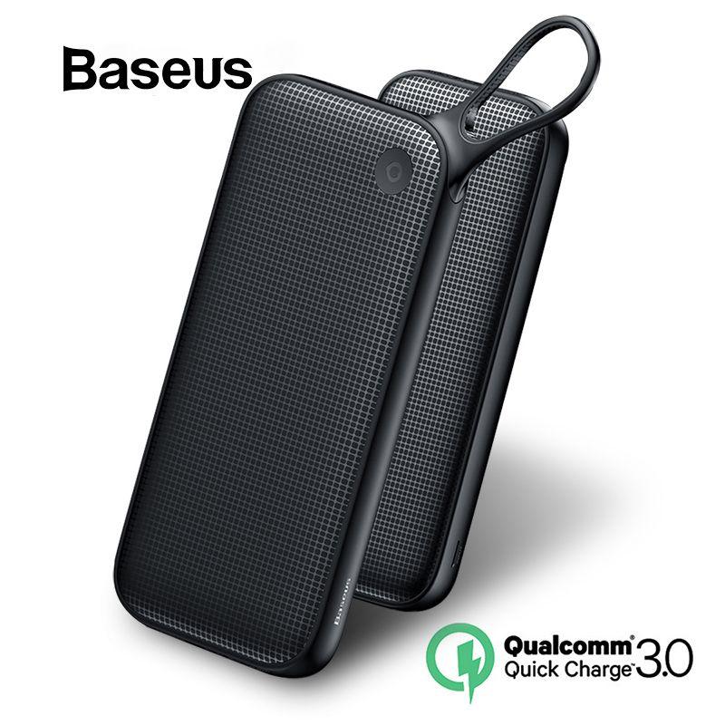 Baseus 20000mAh batterie externe pour iPhone XR Xs Max 8 7 Samsung Huawei USB PD charge rapide QC3.0 banque d'alimentation de chargeur rapide MacBook