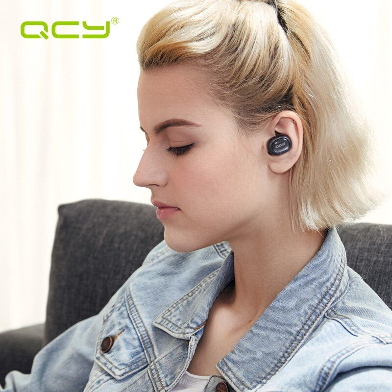 QCY Q29 Bluetooth Headphones Mini TWS V4.2 Wireless Earphones Noise Cancelling Earbuds with Microphone & Charging Case