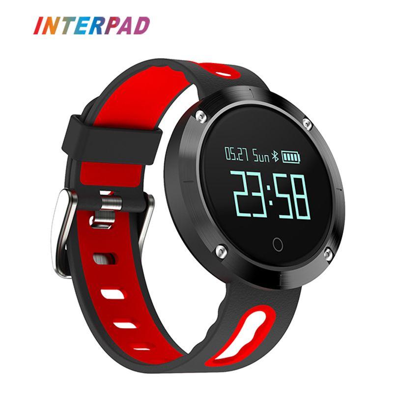 Interpad New DM58 Smart Watch Clock Men Women Sport Bluetoth Smart Wristband With Blood Heart Rate IP68 Waterproof Smartwatch