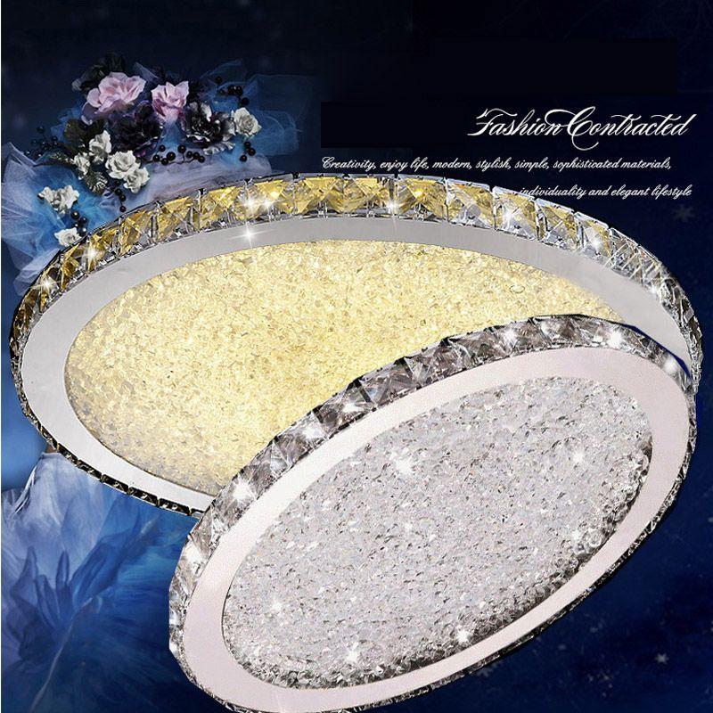Z Modern Luxurious Round LED Ceiling Lamp For Livingroom Restaurant Bedroom Diameter 35 / 45 / 60 / 80cm Crystal Chandelier
