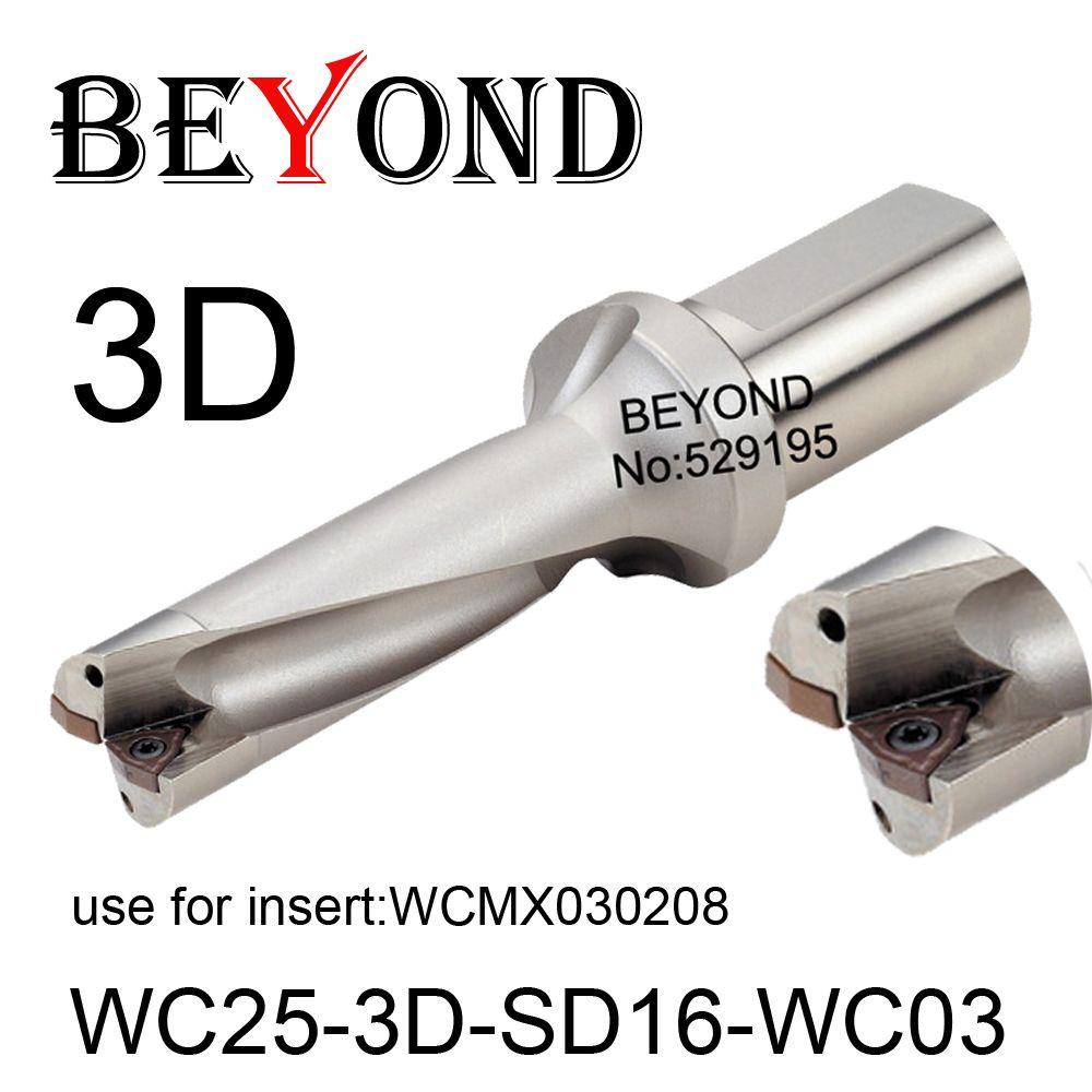 WC-C25-3D-SD16-WC03, Bohrer Typ Für Wcmt030208 Einfügen U Bohren Flacher Loch, hartmetall-wendeschneidplatte bohrer