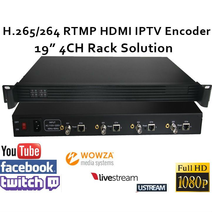 4CH .265/H.264 SDI Video Encoder support RTMP for live broadcasting 19
