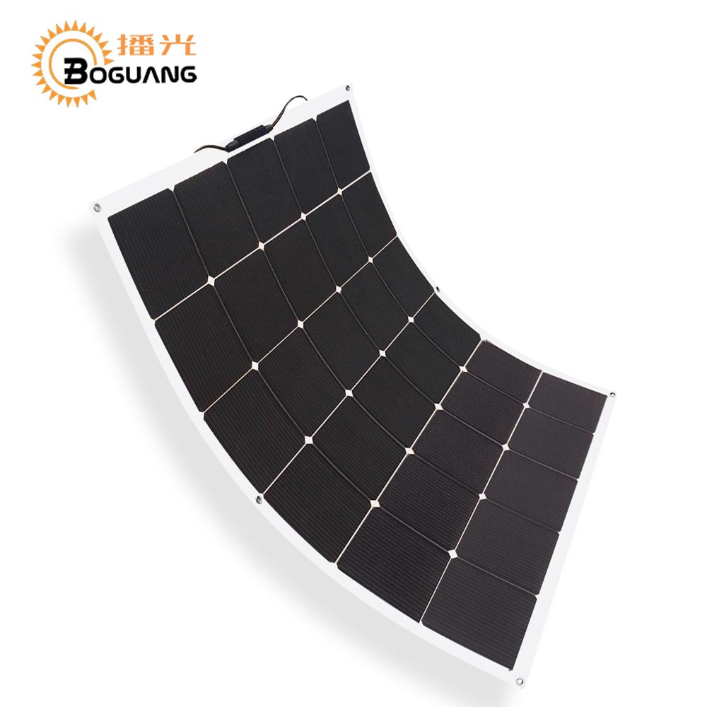 BOGUANG NEW 150w flexible solar panel high effciency cell photovoltaic module 12v battery system kit for RV yacht car charger