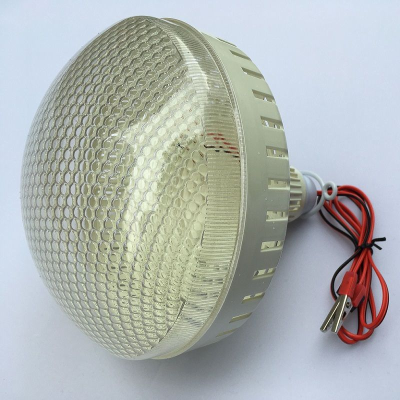 12V DC Led Tent Bulbs Portable Lamp Outdoor Camping Barbecue globe Hanging emergency lights Crocodile Hook Cool White 20/30/40w