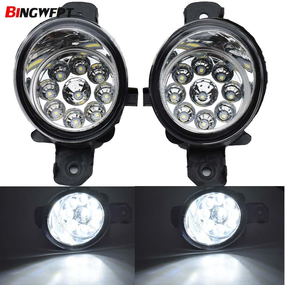 (Rechts + Links) /set Nebel Lampe Montage LED & Halogen Nebel Lichter DRL Tagfahrlicht Für Nissan X-Trail (t30) 2001-2006