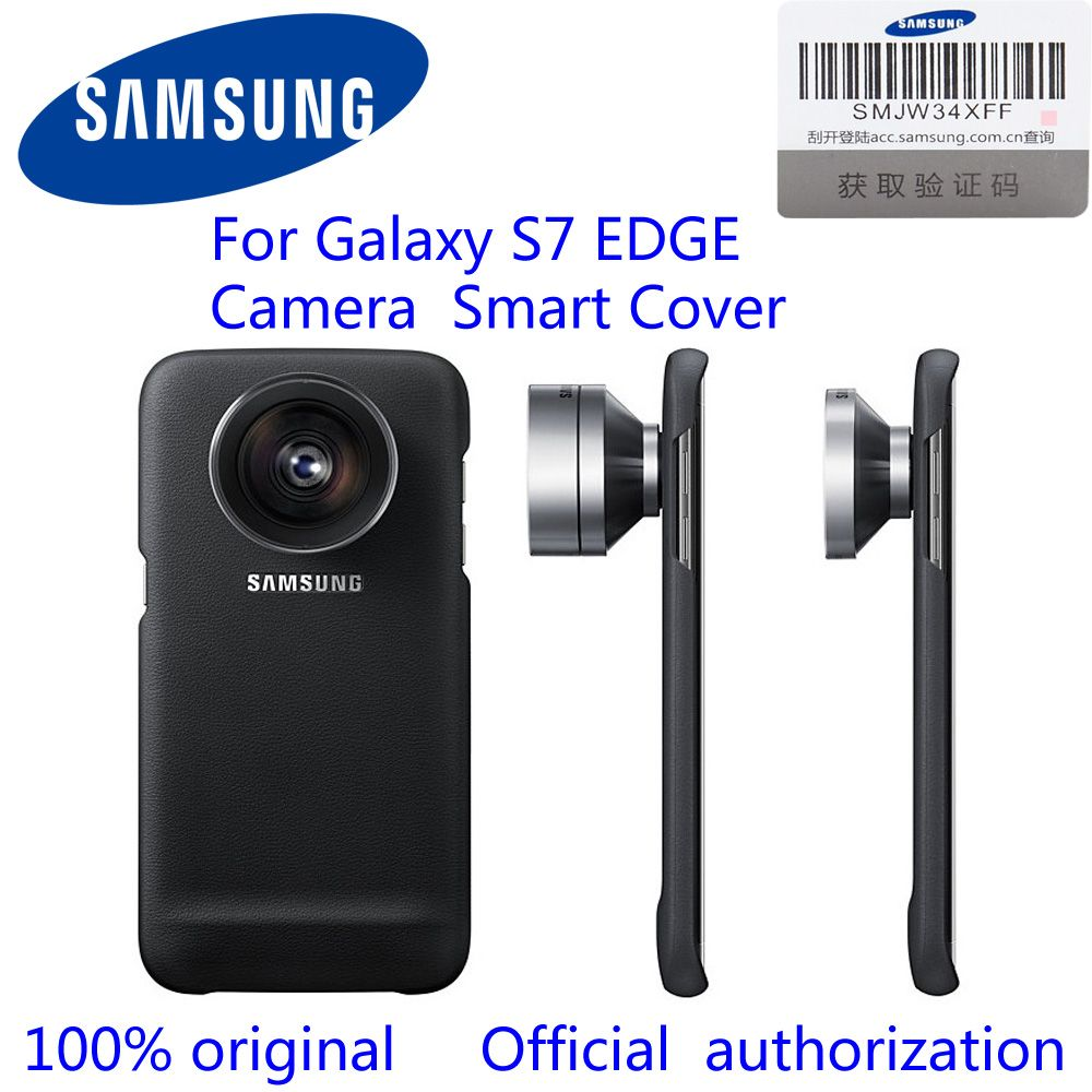 100% Samsung original S7 Edge  Universele Camera Telefoon Lenzen Smart Cover Breed Macro Fisheye Camera Lens Case Voor  G9350