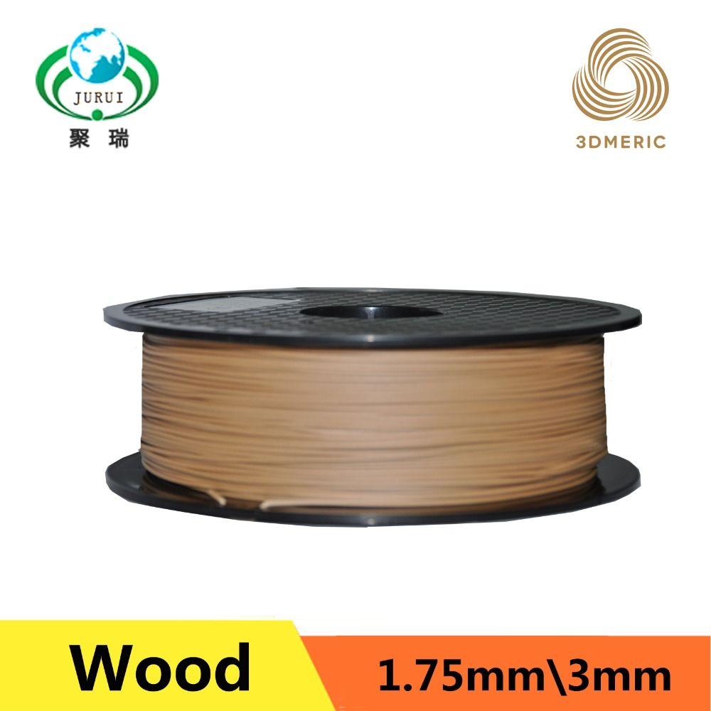 3d filaments d'imprimante Bois de couleur Claire 1.75mm 1 kg en plastique Caoutchouc Consommables Pour Le Matériel MakerBot/RepRap/UP/Mendel