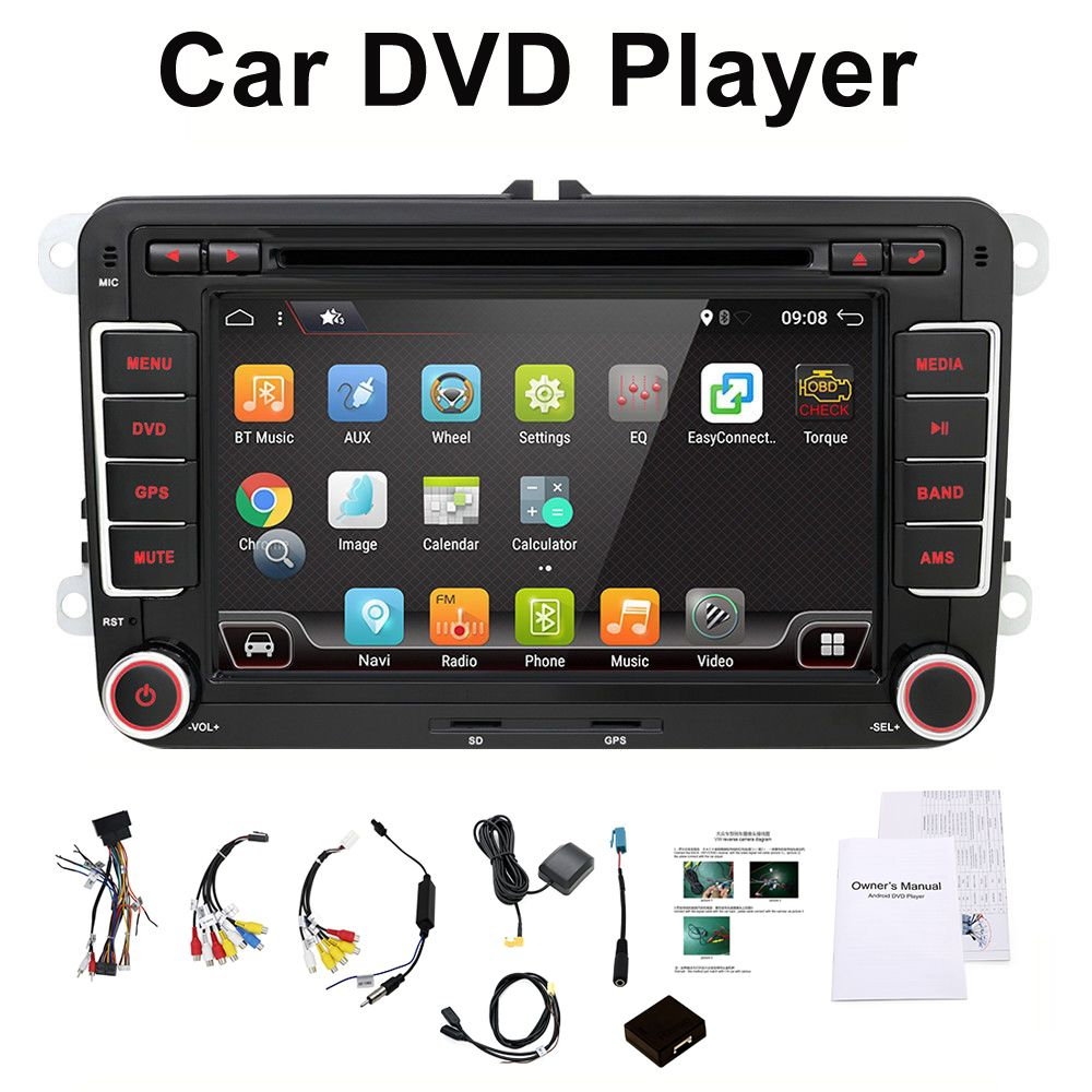 3G Quad Core 2 din Android 7.1 Car DVD player for VW GOLF 5 Golf 6 POLO PASSAT SKODA CC JETTA TIGUAN TOURAN GPS
