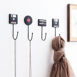 Decoración del hogar minimalista Retro cinta disco suspensión decorativos pared ganchos empleado en la pared clave Rack titular ama S4