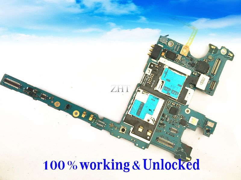 EU R&TTE Directive Original Google Mainboard Chips Logic For GALAXY NOTE 2 N7100 Motherboard Clean IMEI Free Shipping
