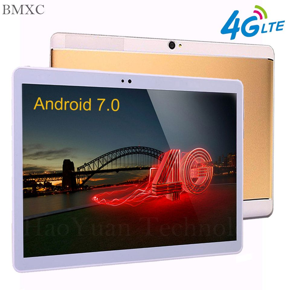 2018 Google 10 inch tablet PC Android 7.0 tablet 3G 4G LTE Octa\10 Core 4GB RAM 64GB ROM 1920*1200 IPS Kids Gift Tablets  10.1