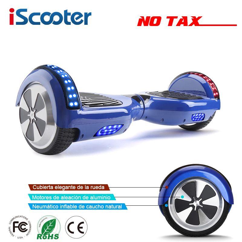 IScooter 6,5 zoll 2 Rädern Intelligente Elektrische Hoverboards mit Bluetooth Lautsprecher LED-Licht Tragetasche Selbst Balance Roller UL2272