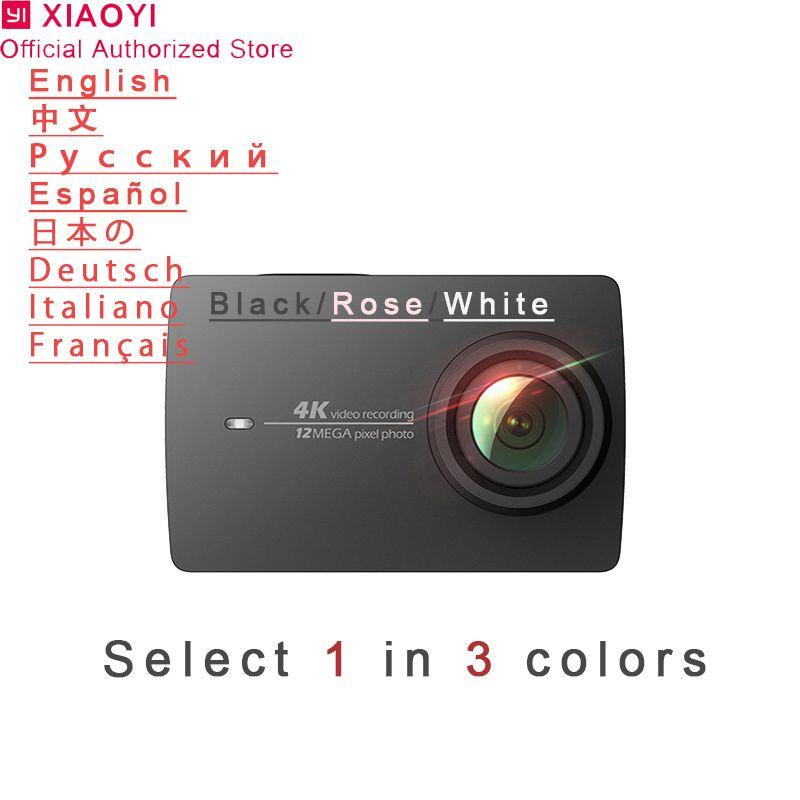 Xiaomi Yi 4k Action Camera Sport Mini Cam Outdoor Kamera Screen Wifi Bluetooth Wide Angle Lens Touch Screen Camaras TF Card Slo
