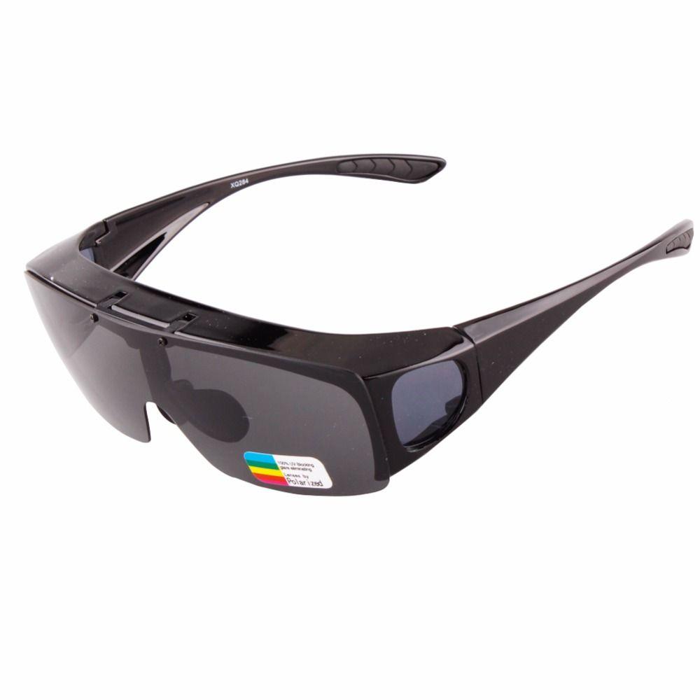 2018 LIVRAISON GRATUITE Moderne UNISEXE flip-up lunettes de soleil Polarisées Lunettes Fit Plus Lunettes Lunettes UV400 Lentille Couvre Lunettes