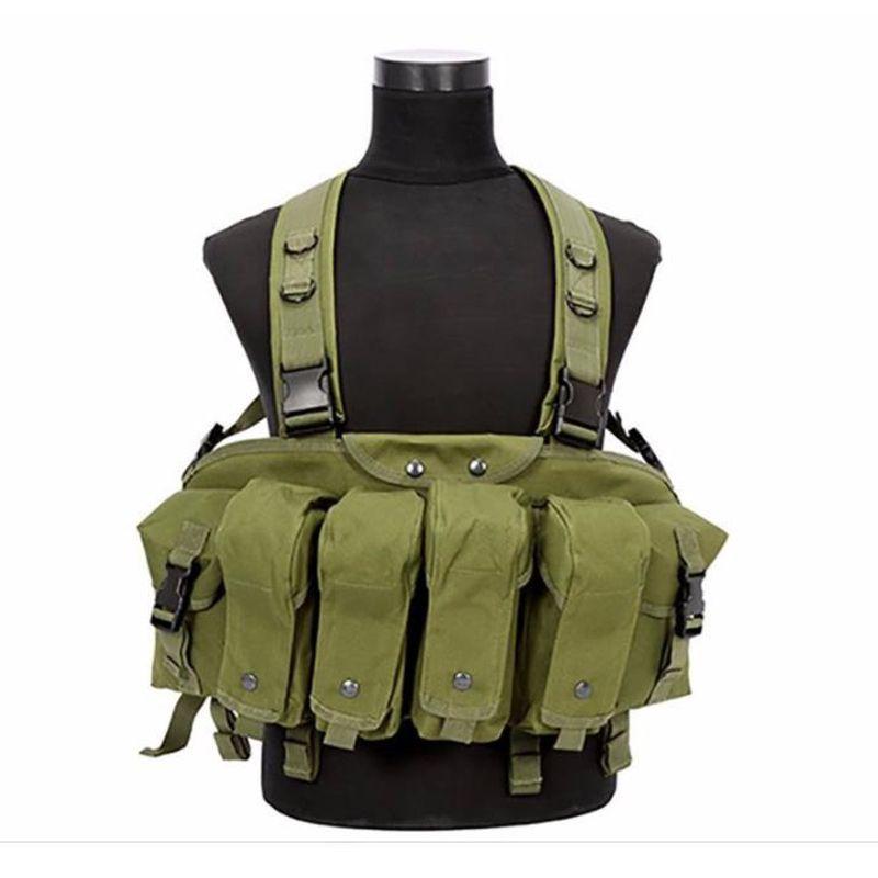 Brust rig Freien taktische weste AK 47 Magazin Träger Kampf Military Camouflage Taktische Weste airsoft weste Ammo Brust Rig BP43