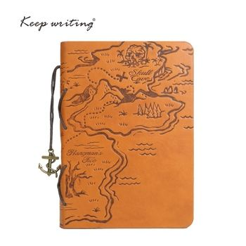 Retro Journal King of the sea Pirate treasure map Pirates of the Caribbean style Week plan Planner sea book Vintage NOTOBOOK