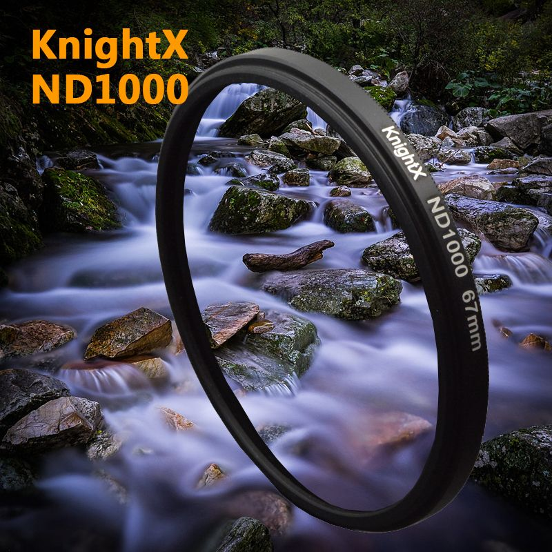 KnightX 52mm 58mm 67mm Neutral density ND 1000 ND1000 <font><b>filter</b></font> FOR Canon nikon EOS 1100D 700D 650D D5200 D5300 Digital Camera Lens