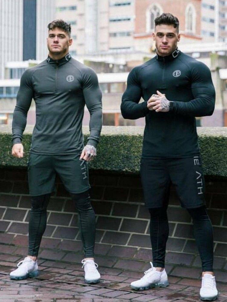 Männer Marke Trainingsanzug Rash gard Kit Schnell trocknend Männer Gym Kleidung Mann Compression Unterwäsche 3-stück Set Lange Unterhosen