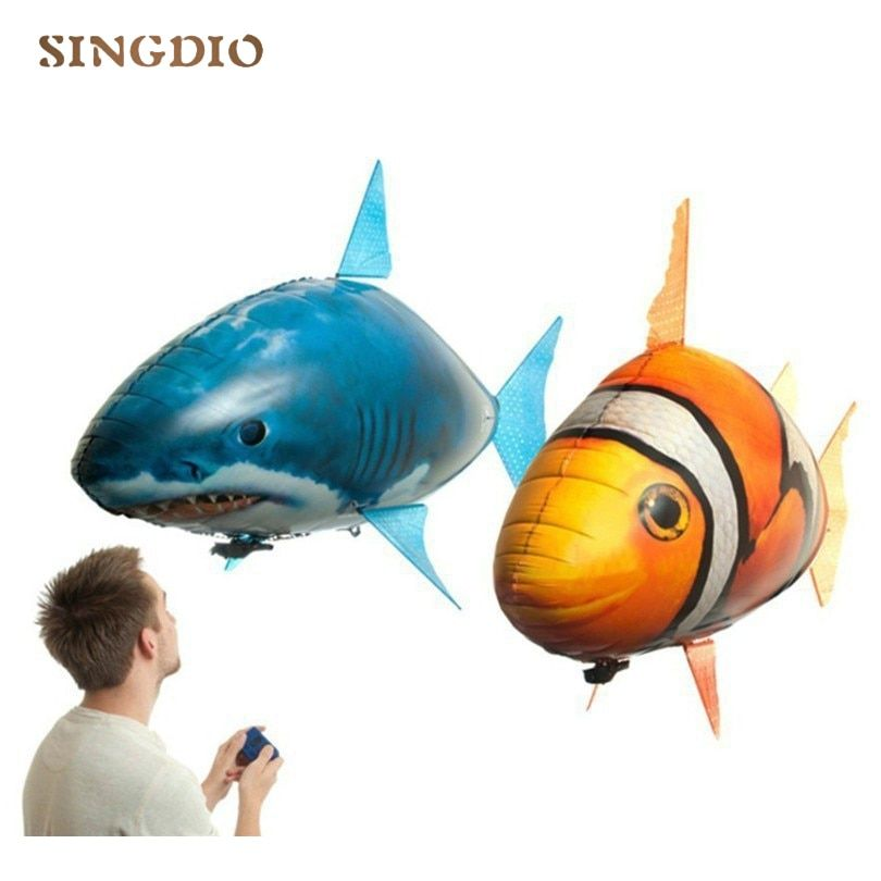 Hot Sale RC Kids Toys Kids Swimming Fish Toys Electric Shark Clown Fish Balloons Air Fly Children Funny Toys Gifts for Kids