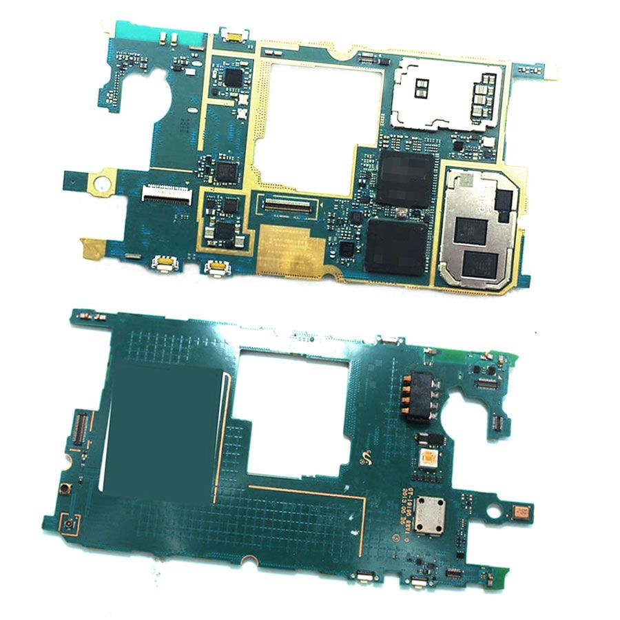 Original unlocked with chips Mainboard For Samsung Galaxy S4 mini i9195 4G LTE Motherboard Flex cable Logic Boards