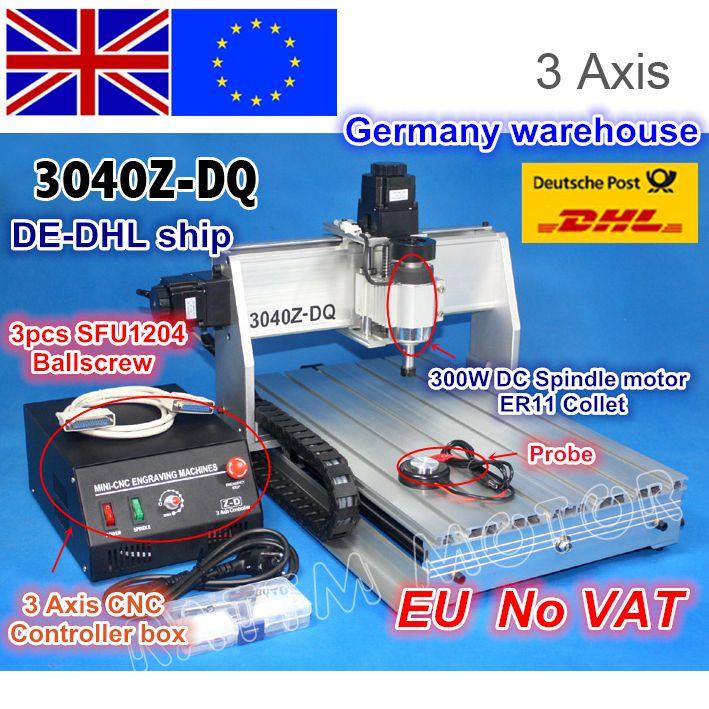 EU schiff kostenloser MEHRWERTSTEUER 3 Achse 3040Z-DQ Ball schraube 300 W spindel motor CNC ROUTER GRAVEUR/GRAVUR BOHREN Fräsen maschine 220 V/110 V