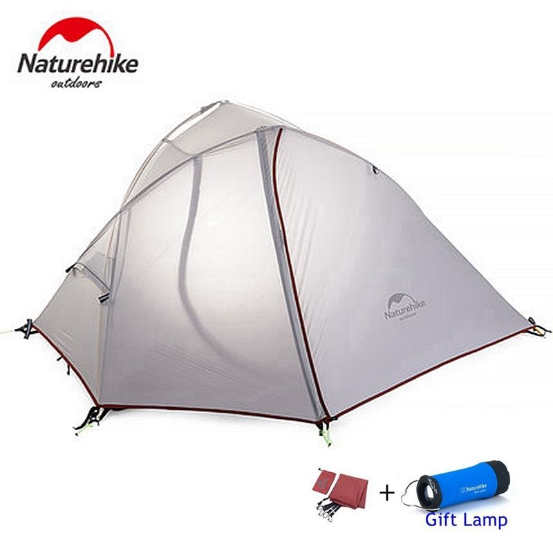 DHL UPS free shipping naturehike tent 1-2 person ultralight hiking camping tent blue gray
