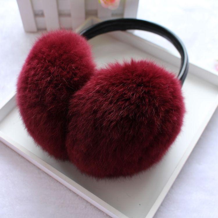 women Russia Winter 100% natural rex rabbit fur earmuff Men Warm Fashion real Fur Earmuffs kids fur ear cover  Girl's Earlap