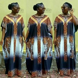 2018 nueva moda super tamaño gasa Africana suelta dashiki flor patrón impresión nación impresión para señora