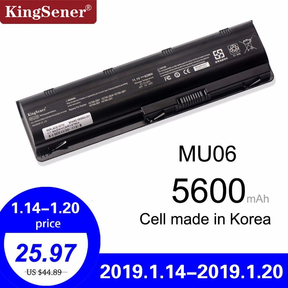 Cellule de la corée Nouveau Batterie pour HP Pavilion G4 G6 G7 G32 G42 G56 G62 G72 CQ42 CQ43 CQ56 CQ62 CQ72 DM4 DM4T MU06 593553-001 HSTNN-UBOW