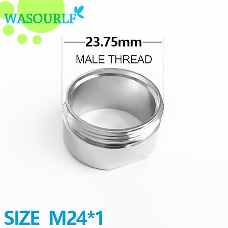 WASOURLF  2 PCS water saving faucet aerator M24 24mm male thread 3 Liter bubbler tap accessories free shipping welcome wholesale