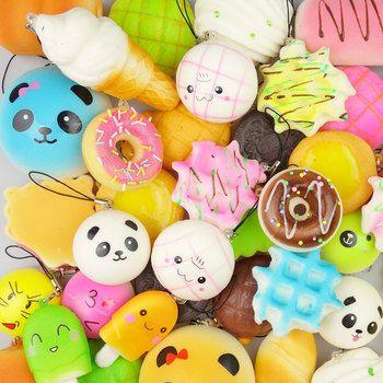 wholesale 5pcs Medium Hamburger Mini Soft Squishy Bread Toys Key Squishy Toy Slow Rising Novelty &Gag Toys Support Drop Shipping