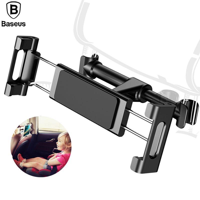 Baseus Backseat Mount Car <font><b>Phone</b></font> Holder For iPhone X 8 iPad Samsung S9 360 Degree Tablet Car Back Seat Mobile <font><b>Phone</b></font> Holder Stand