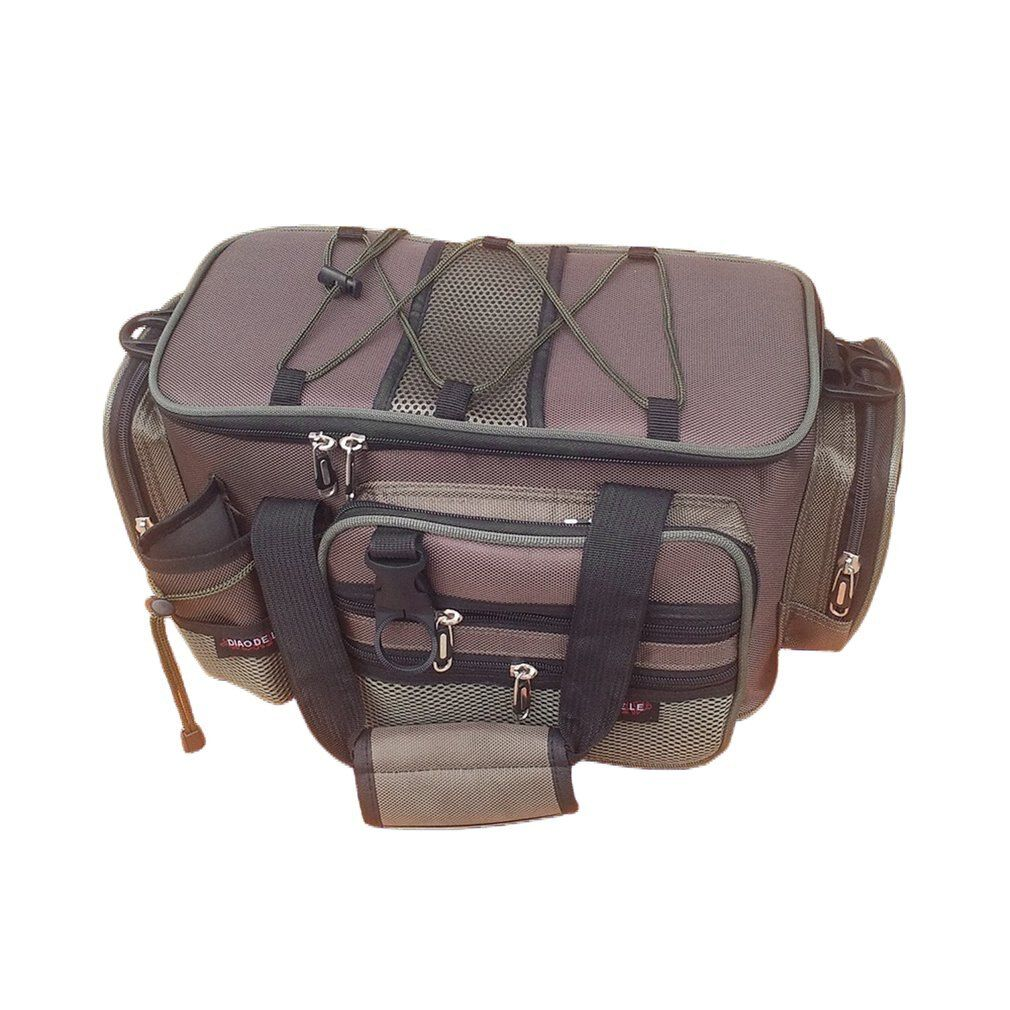 2017 Multifunction Canvas Fishing Bag Large Capacity Lure Fishing Tackle Pack Outdoor Shoulder Bags Fish Finder Drop Shipping